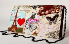 Poseta plic Paris Romantic, carti postale si turnul Eiffel