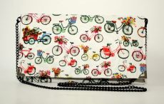 poseta plic biciclete multicolore