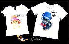 tricouri cuplu pisici indragostite