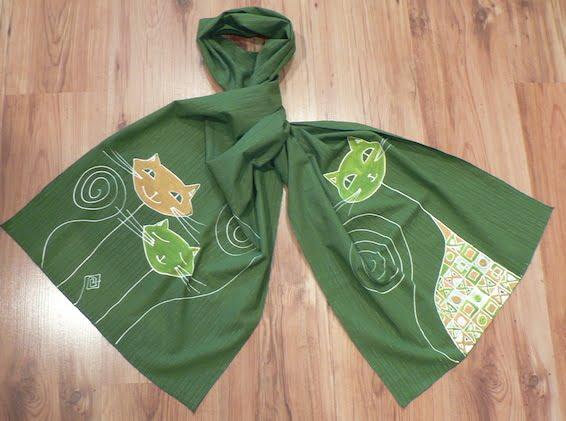esarfa pisici verde cadouri haioase