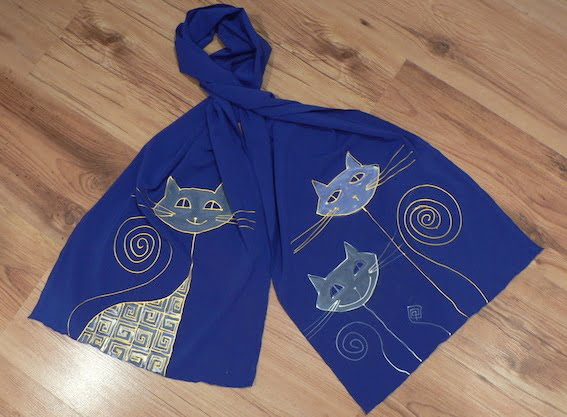 esarfa pisici albastru cadouri haioase