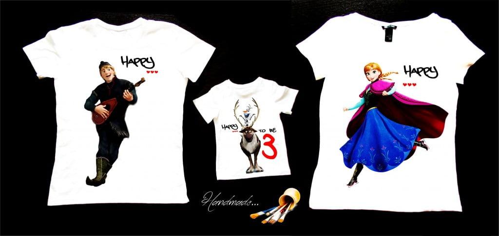 set tricouri familie Frozen