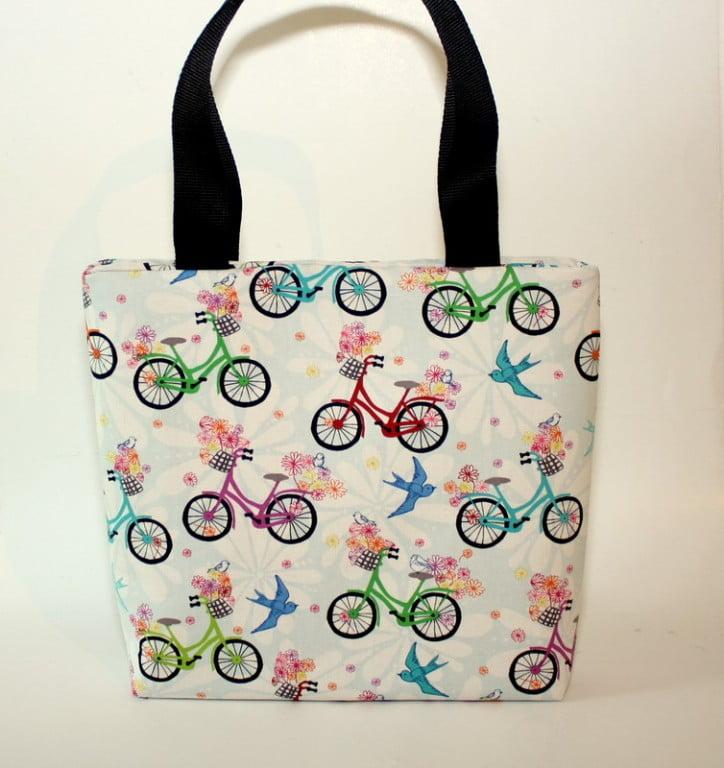 geanta umar biciclete multicolora