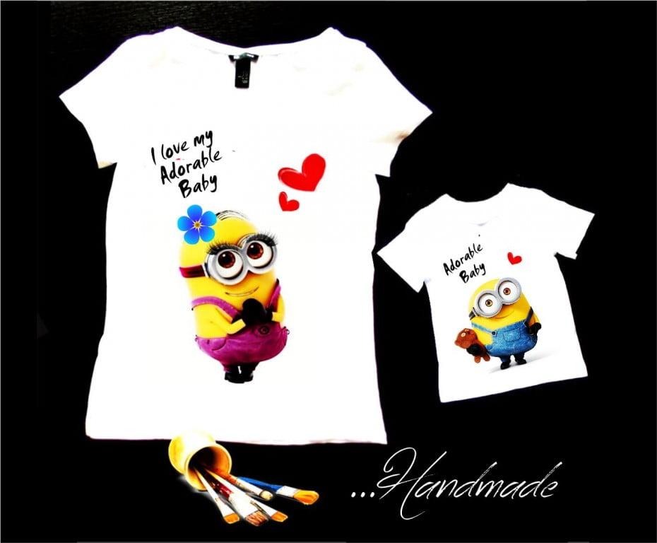 set tricouri Minions mama fiu