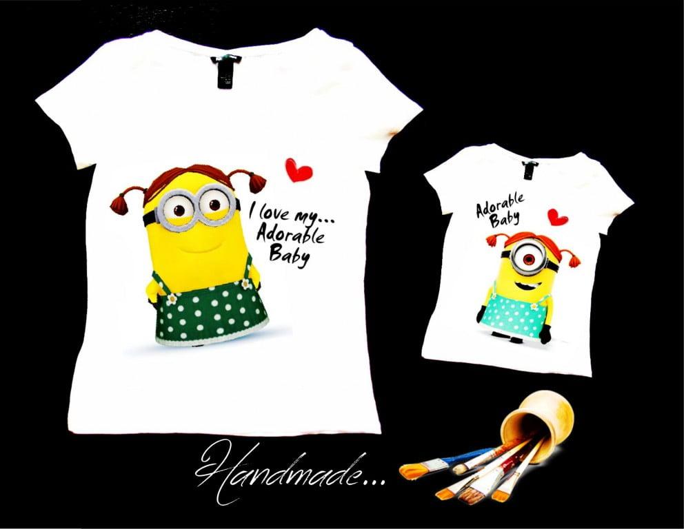 set tricouri Minions mama fiica