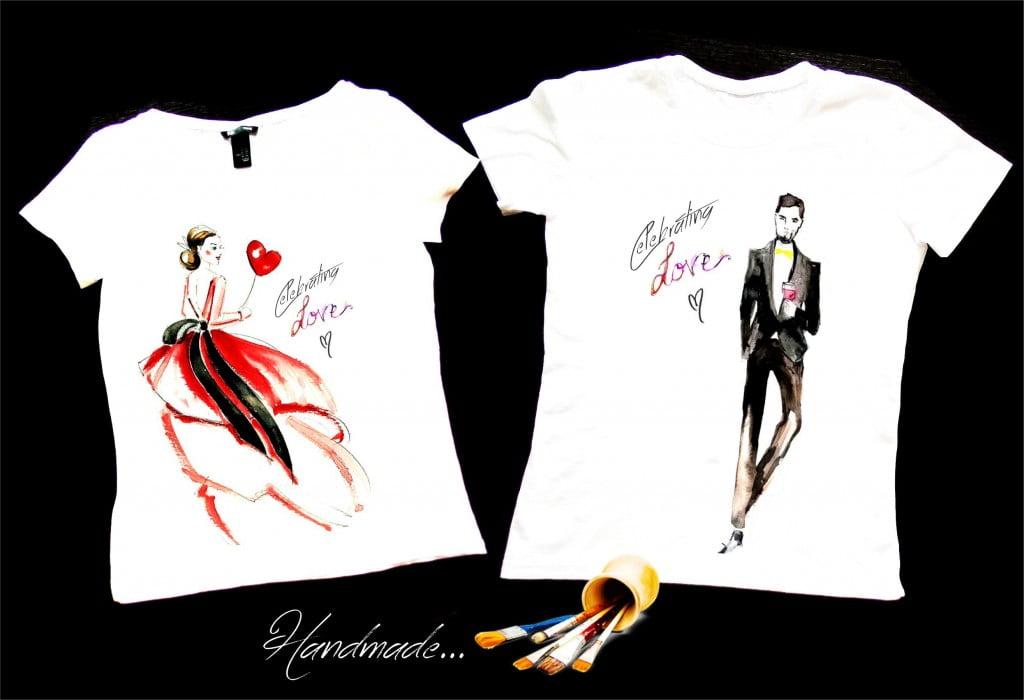 set tricouri cuplu sfantul valentin