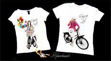 set tricouri cuplu biciclisti
