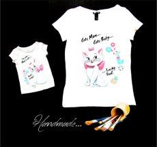 set tricouri mama fiica pisicile aristocrate
