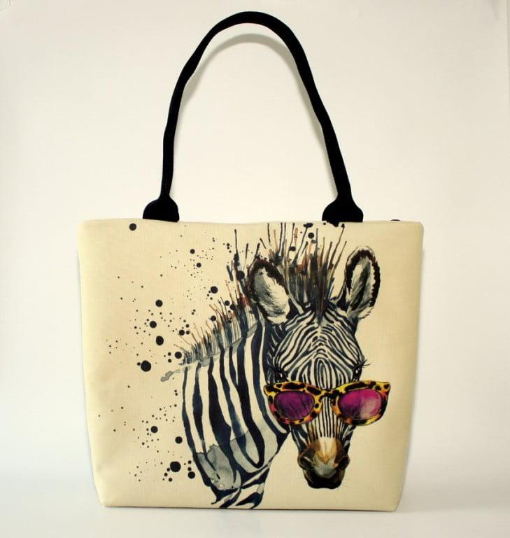 geanta umar handmade zebra