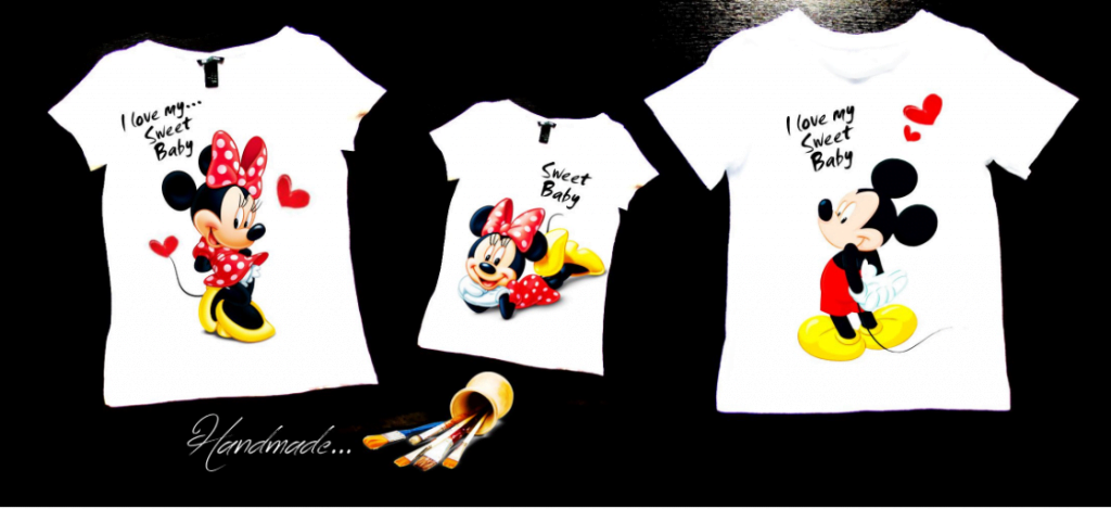 set tricouri family personalizat mickey minnie