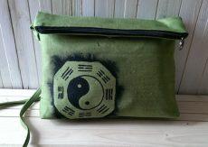 Geanta de umar Yin & Yang, pictata manual