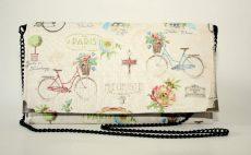 poseta plic handmade paris biciclete