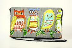 poseta plic handmade bufnite multicolore