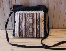 geanta etno motive traditionale maro alb