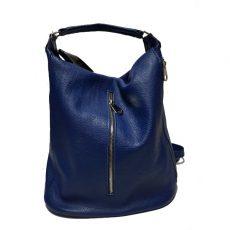 Geanta sac din piele naturala bleumarin