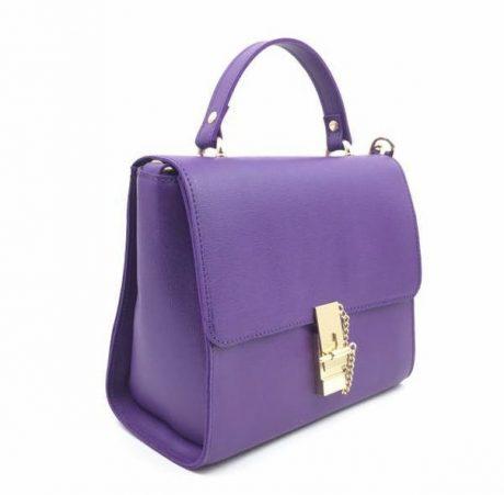 geanta dama piele naturala ultra violet