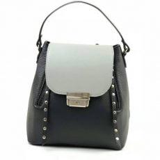 rucsac geanta din ppiele naturala negru gri