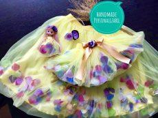 set tutu mama fiica petale flori multicolore