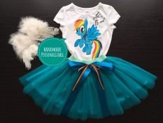 set fetite fusta tuta tricou body pictat a little pony