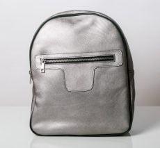rucsac personalizat din piele naturala argintie