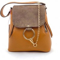rucsac geanta din piele naturala maro caramel