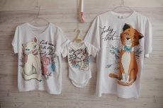 set familie aniversar tricouri pictate pisicile aristocrate