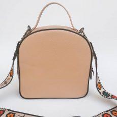 geanta dama incapatoare din piele naturala crem rose