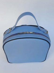 geanta dama incapatoare din piele naturala bleu